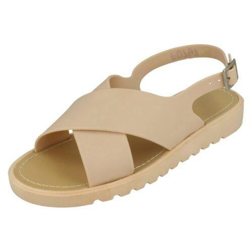 Spot On Cross Strap Ladies Open Toe Sandals