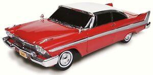 1958-Plymouth-Fury-2-tone-Red-amp-White-Christine-movie-car-1-18-Auto-World-102