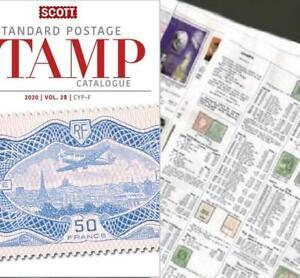 Egypte 2020 Scott Catalogue Pages 371-450-afficher Le Titre D'origine