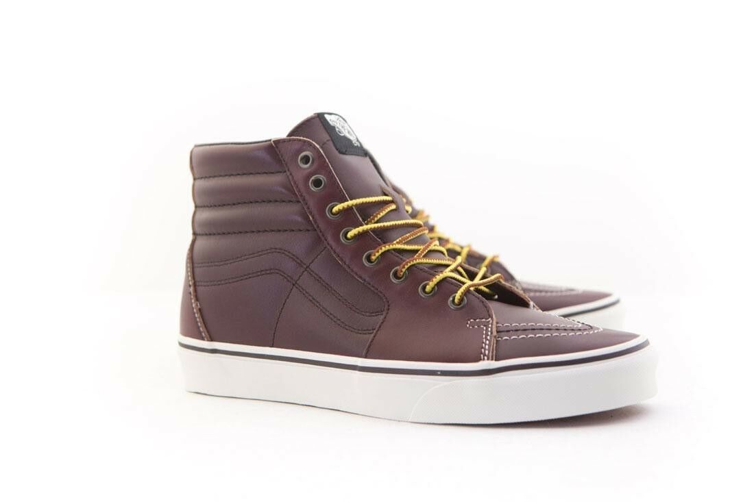 VN08GEOE5 Vans Men SK8-Hi - Groundbreakers burgundy rum raisin