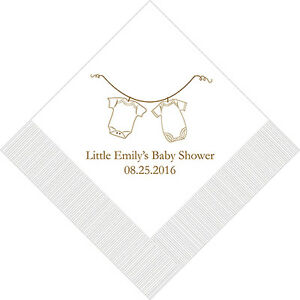 500 Baby Clothes Personalized Shower Cocktail Napkins
