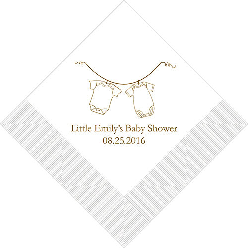 300 Baby Clothes Personalized Shower Cocktail Napkins