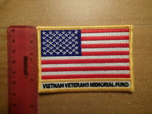 Vintage-Souvenir-Patch-EMBROIDERED-Vietnam-Veterans-Memorial-Fund-THE-WALL-USA