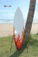 Brand Ornamental Wooden Retro Flame 100cm Surfboard Camper Van Surf /su100l1
