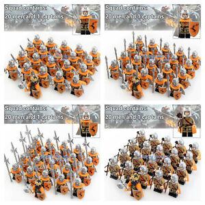 21pcs-Game-of-Thrones-Minifiguren-Baratheon-Armee-Militaer-Figur-fuer-LEGO-Minifigur