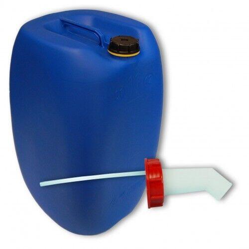 .Bidon plastique 60 L Blau DIN 61 + 1 bec verseur, PEHD, AliSietaire (22250+019)