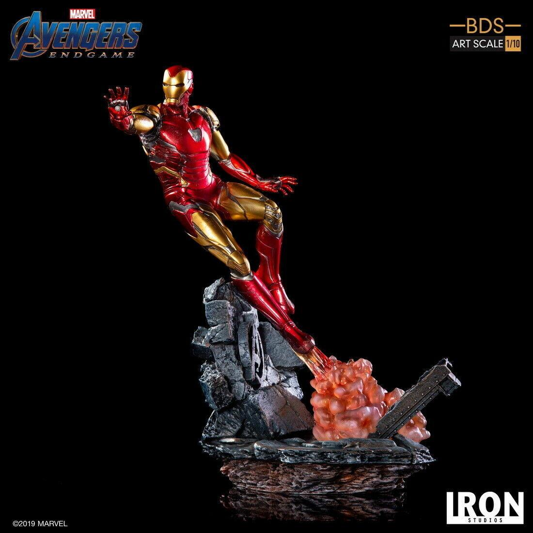 1 10 juego final Iron Studios Los Vengadores Iron Man MK85 Estatua Figura Juguete estándar