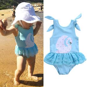 ca82089e99a91 Das Bild wird geladen Kinder-Baby-Maedchen-Badeanzug-Badekleid-Bademode- Bikini-Schwimmanzug-