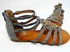 NEW So Women/'s Guppy Gladiator Sandals Stone Beaded Accents #158456 73K tp