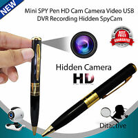 Gold HD Spy Pen Hidden Camera DVR Audio Video Recorder Camcorder Mini DV