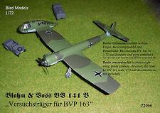 BV 141 B Versuchsträger für BVP 163.01/02  1/72 Bird Models Umbausatz/conversion