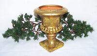 8 Gold Painted Urn Vase Floral Planter Holder