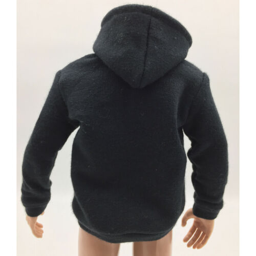 1//6 Clothes Black Zipped Hoodie For 12inch Hot Toys Sideshow Enterbay Figure