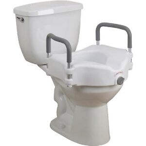Easy To Clean 5 Quot Locking Elevated Raised Toilet Seat With
