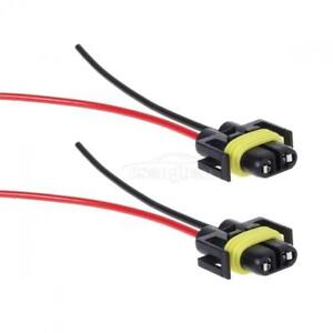 2xH8 H11 Wiring harness Extension Wire Socket Adapter ...