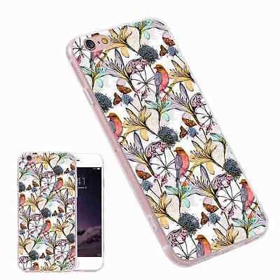 Floral Print Pattern Shockproof TPU Fashion Phone Case for iPhone Samsung Huawei