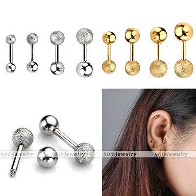 Pair 16g Steel Punk Barbell Ear Cartilage Helix Tragus Stud Earring Bar Piercing