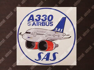 SAS-SCANDINAVIAN-AIRBUS-A330-A-330-PUDGY-DECAL-STICKER-3-5-x-3-5-in-9-x-9-cm