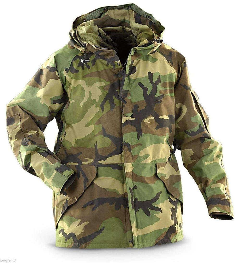 Army ECWCS Cold Weather Parka US woodland camouflage Outdoor Veste Medium Regula