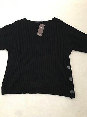 """* Bnwt M & S Collection Maglione Nero """"stay-nuovo"""" Taglia L-mostra Il Titolo Originale Con Una Reputazione Da Lungo Tempo"""
