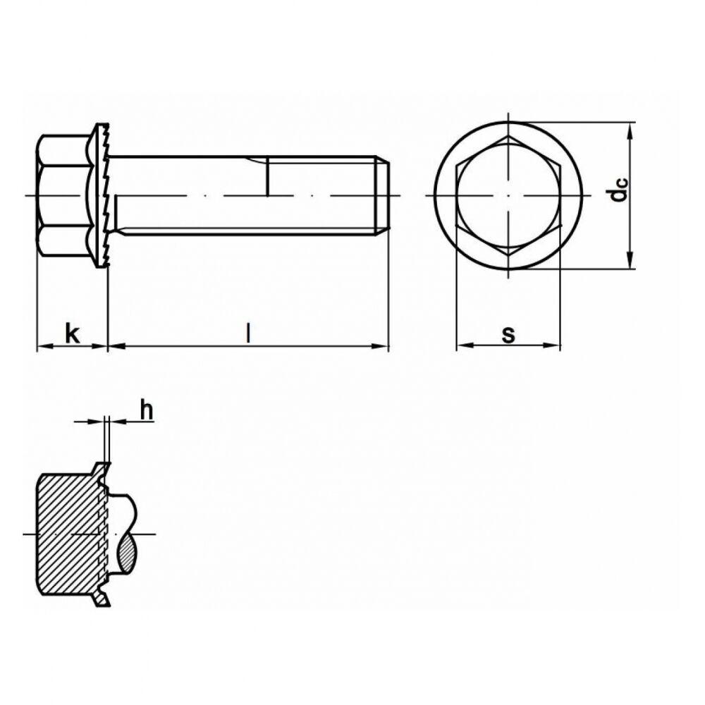 200x Außensechkant Außensechkant Außensechkant Sperrzahnschrauben M 8 x 14. 8.8 blank. Vollgewinde   | Sehr gute Qualität  21dc5f
