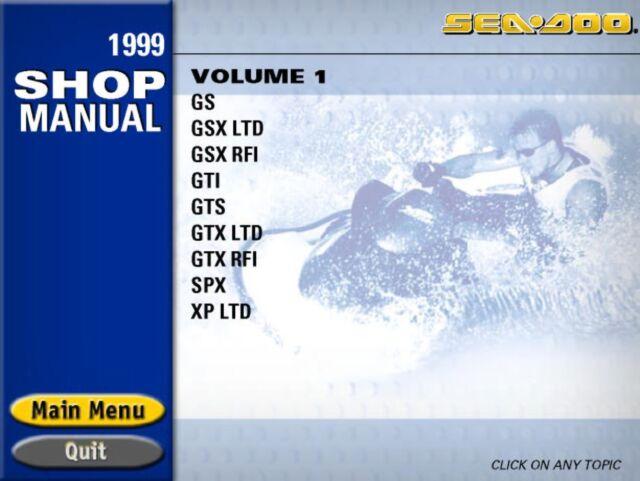 1999 seadoo gs5846-5847, gsx limited-5848-5849, gsx rfi-5637-5638,