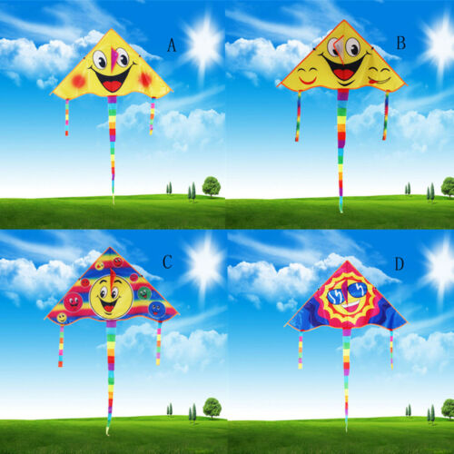 Huge 80cm Smile Faces Single Line Novelty Expression Kite Children/'s Gift`Toy WO