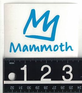 MAMMOTH MOUNTAIN DECAL Mammoth Ski Snowboard 3.5 in x 2.5 in Die-Cut Sticker