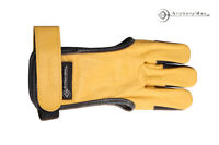 Outdoor Archery Traditional Yellow &black Hunter Gloves Archery 3 Fingers Guard