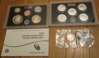 14 coins w// Box COA $ Half 25c 10c 5c 1c 2012-S United States Mint Proof Set