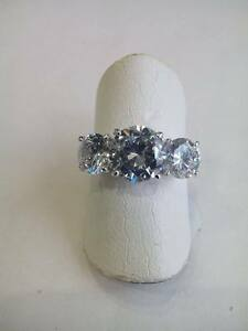Anello-donna-Trilogy-argento-925-zirconi-bianchi-16-18-idea-regalo-Ring-Silver