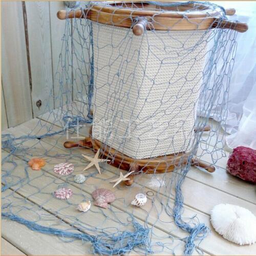 Nautical Fishing Net Seaside Sea Shells Home Wall Hanging Netting Decor HD
