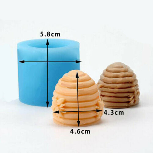 Bee Hive Silicone Fondant Soap Candle Mould Cake DIY Sugarcraft Handmade Mold