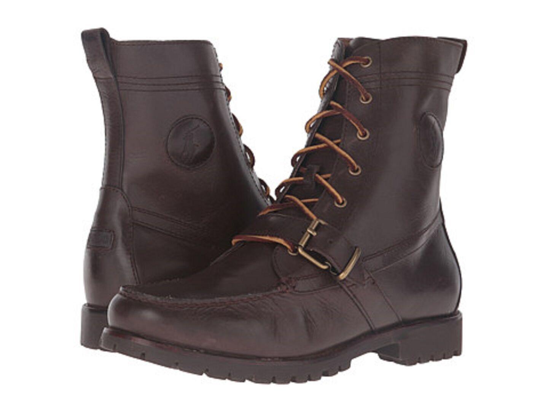Polo Ralph Lauren 812615506001 Ranger Mn 's (M) Cuero Marrón Oscuro botas acordonadas