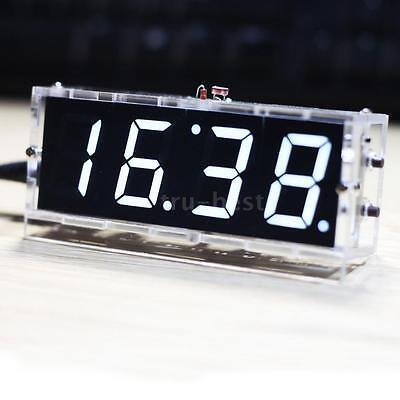 4-digit DIY Digital LED Clock Kit Light Control Temperature Date Time Часы