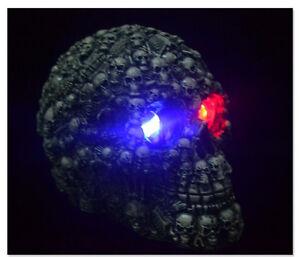 Resin-LED-Light-Demon-Skull-Ghost-Evil-Skeleton-Head-Halloween-Party-Decoration
