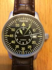 FORTIS FLIEGER B-uhr Grenchen 595.10.46 Automatic DATE St. Steel 40mm Mens Watch