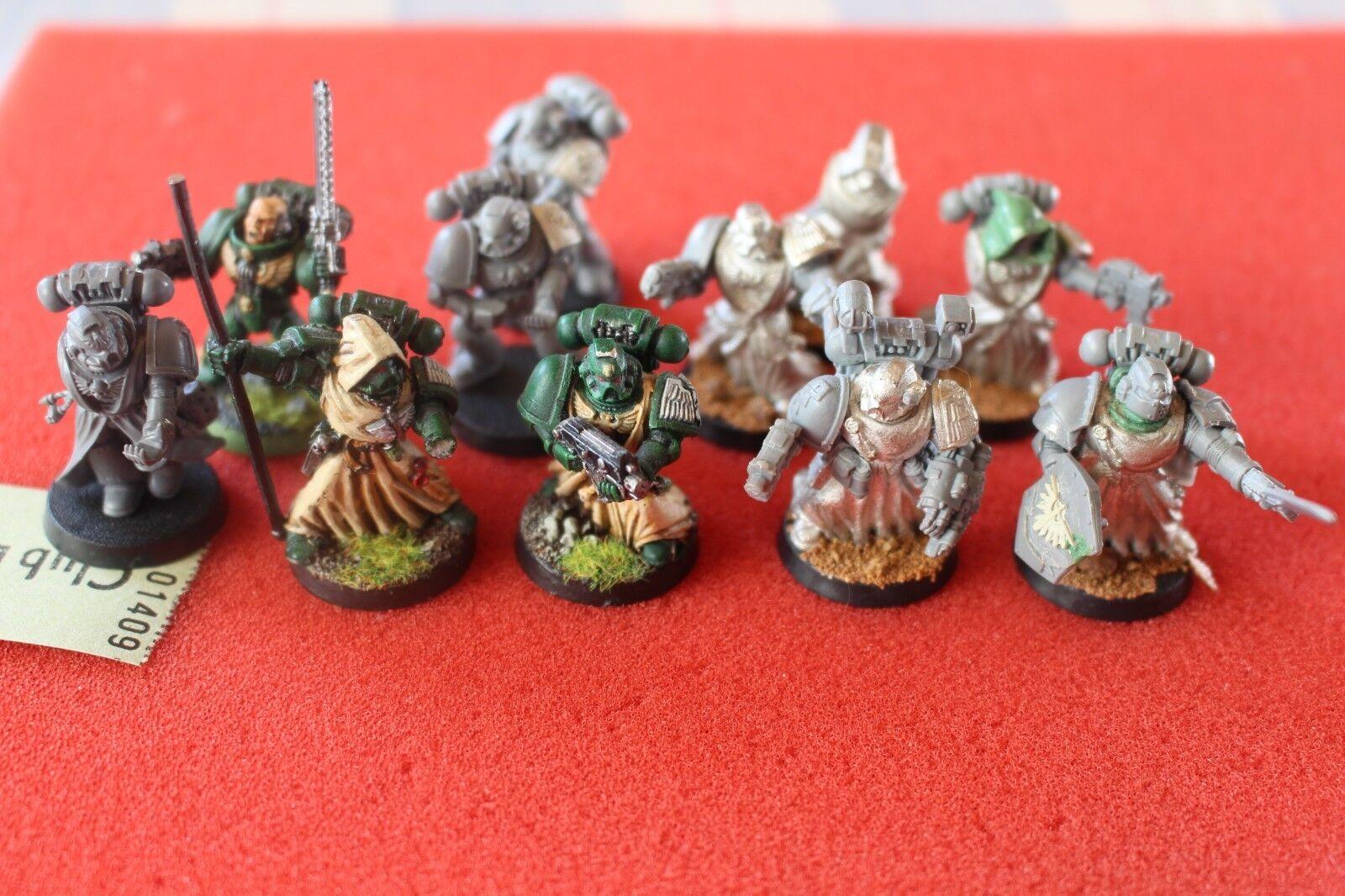 Games Workshop Warhammer 40k Dark Angels Veterans Metal Squad 11 Figures Army GW