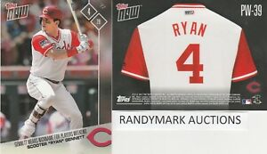 19cb4e4d9 Scooter Gennett RYAN REDS TOPPS NOW PLAYERS WEEKEND NICKNAMES PW-39 ...