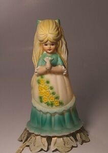 Vintage Aladdin Giftware Little Girl Night Light  - Works metal base . 1950s