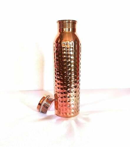 Leak Proof Design Copper Vessel 900 ML Pure Hammered Copper Water Bottle 32 oz