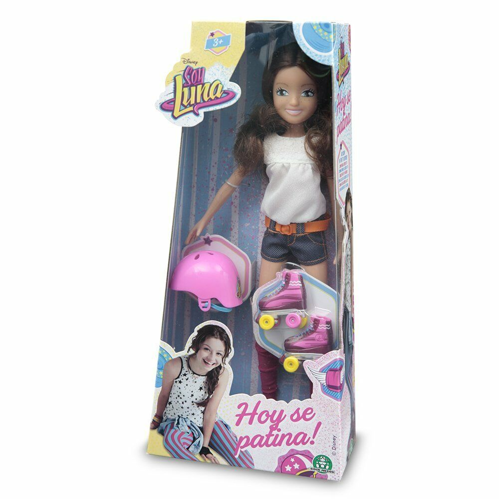 Soy luna Puppe mit Schlittschuhe Helm und Anhänger Mode Puppe Spielzeug Mädchen