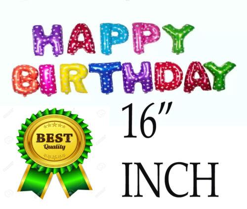 "16/"" LARGE /""HAPPY BIRTHDAY/"" SELF INFLATING BALLOON BANNER BIRTHDAY PARTY DECOR UK"