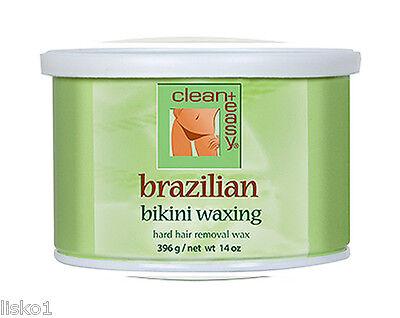 clean + easy *** 41153 Brazilian Bikini waxing 14oz Hard Hair Removal Wax GIGI