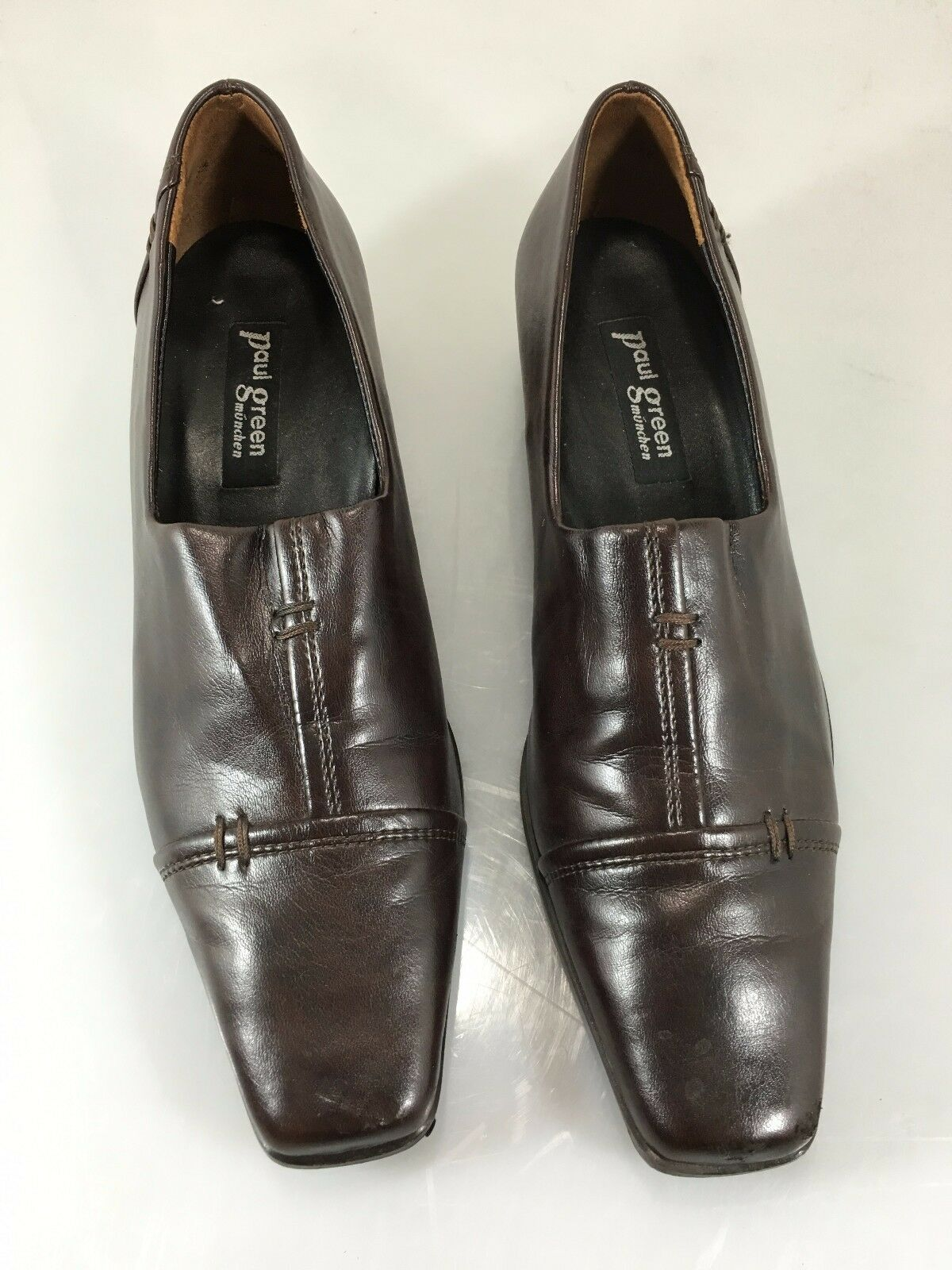 Paul verde 5 Munchen Donna 3.5 Austria 5 verde US Brown Leather Loafers Shoes cf8c67