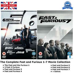 Image Is Loading Fast And Furious 1 7 The Complete Series