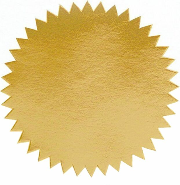Shiny Gold Foil Seal Certificate Labels Pack Of 50 2 Diameter Ebay
