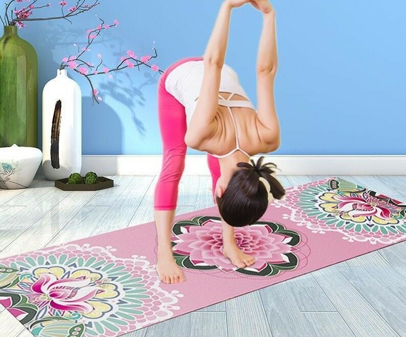 Natural Rubber 18366cm1.5mm Exercise Pilates Fitness Yoga Mat With Bag