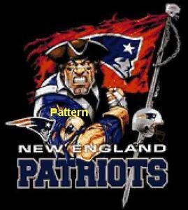New England Patriots Mascot etc. Cross Stitch Pattern. Paper version ... abe5e7d1f075