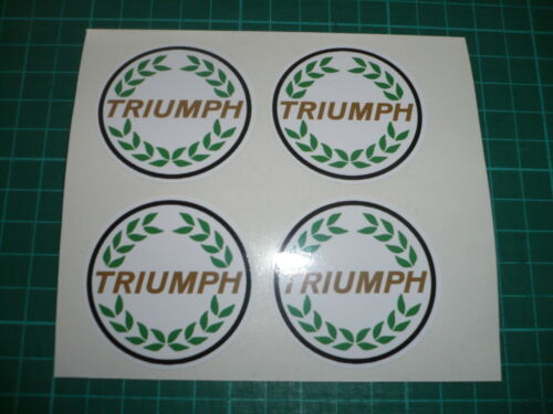 TRIUMPH Wheel Centre Stickers Herald,Spitfire set of 4 TR7 TR6